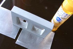 【アクセサリーの作り方】アルミの枠に洗剤を塗る